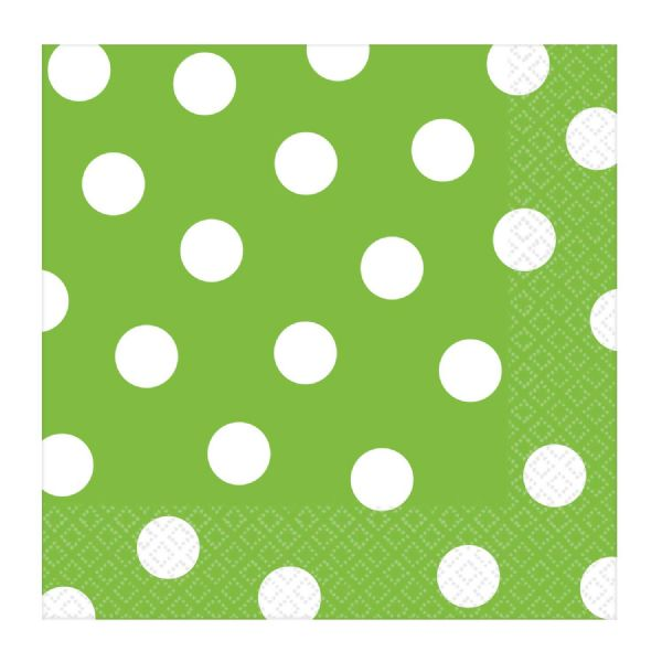 Kiwi Green Dots Napkins (16)